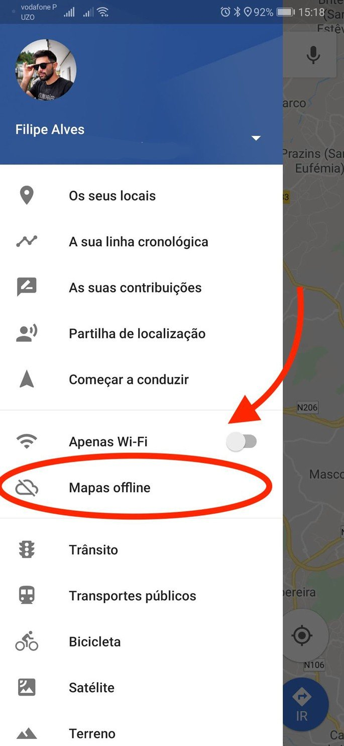 Google Maps offline sem gastar internet