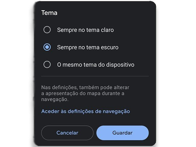 Google Maps Dark Mode 4gnews Modo escuro