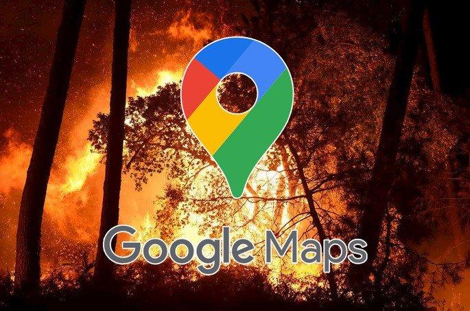 Google Maps fogos