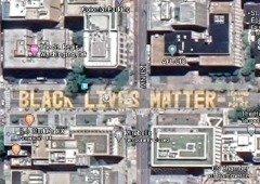 """Google Maps já te deixa ver o impressionante mural """"Black Lives Matter"""" perto da Casa Branca!"""
