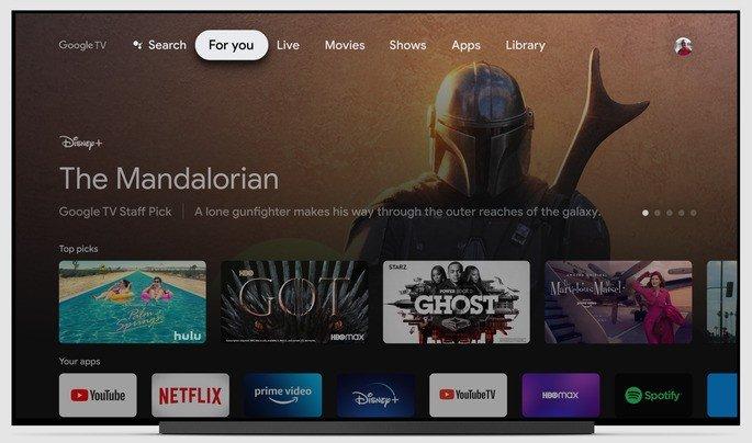 O design do Google TV