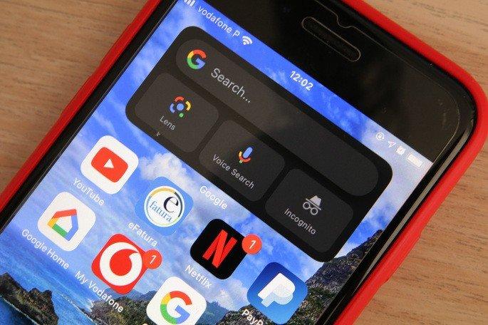 google widget iphone