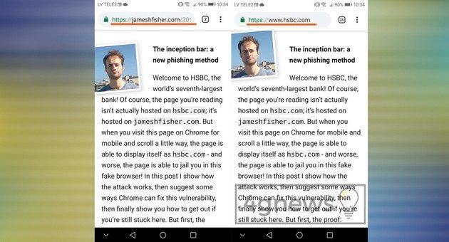 Google Chrome Cuidado scam