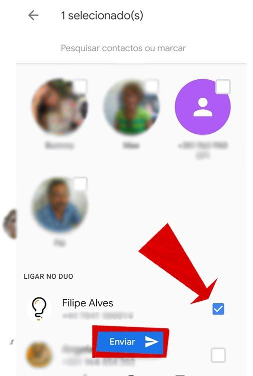 Google Duo partilha de fotos