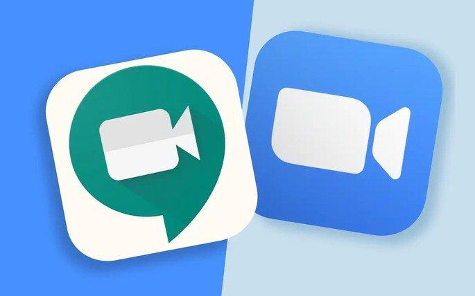 Google Meet Zoom vídeo-chamadas