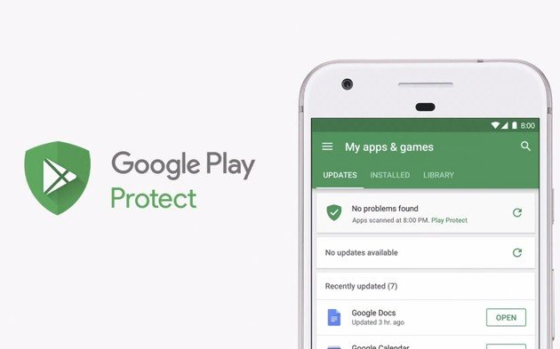 Google Protect maliciosa apps