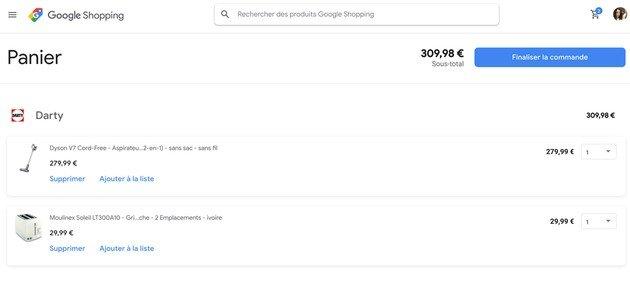 Google Compras online