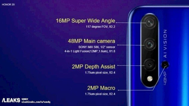Huawei Honor 20 câmaras