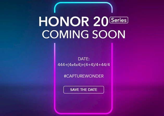 honor 20 data de lançamento