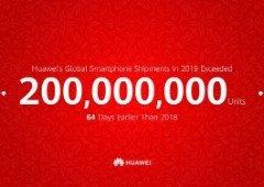 Huawei bate recorde ao ultrapassar os 200 milhões de vendas em 2019!