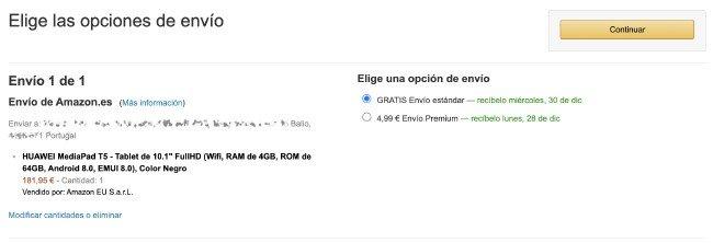 Envios Amazon Portugal