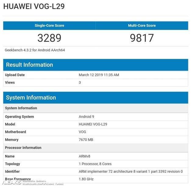 Huawei P30 Pro benchmarks