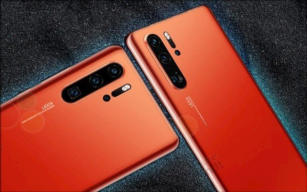 huawei p30 sunrise red