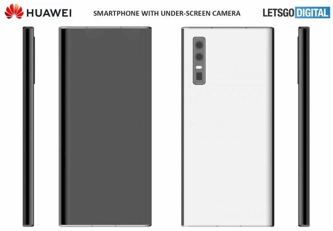 smartphones Huawei patente câmara dentro do ecrã