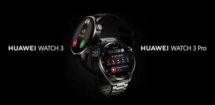 Huawei Watch e Huawei Watch 3 Pro