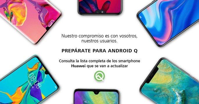 Huawei Espanha Android Q