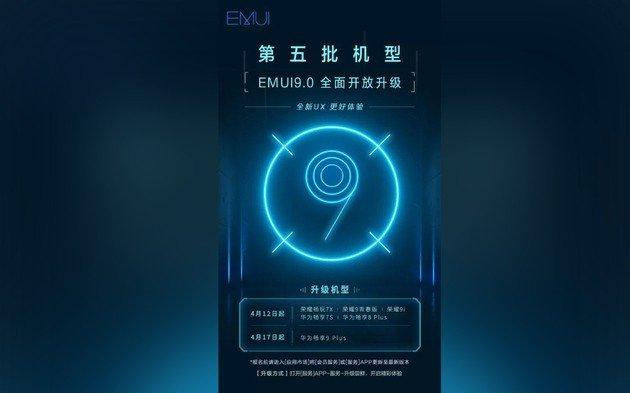 Huawei 6 smartphones EMUI 9