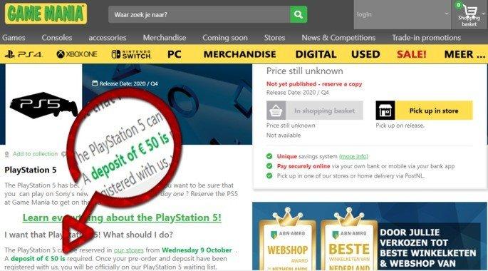 PlayStation 5 reserva fraude