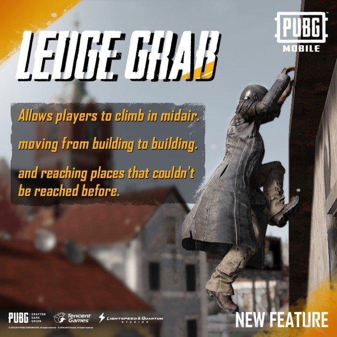 PUBG Mobile Ledge Grab