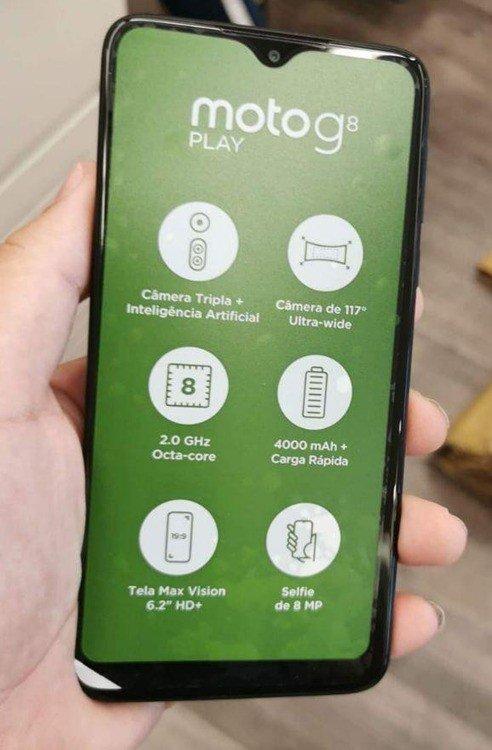 Motorola G8 Play frente