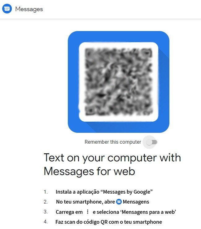Messages Google for web