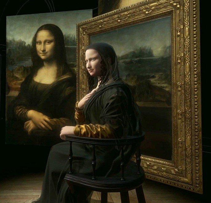 Mona Lisa 3D HTC realidade virtual