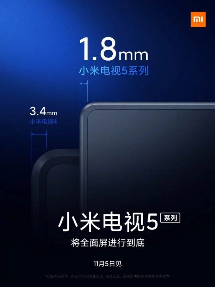 Xiaomi Mi TV 5 margens finas
