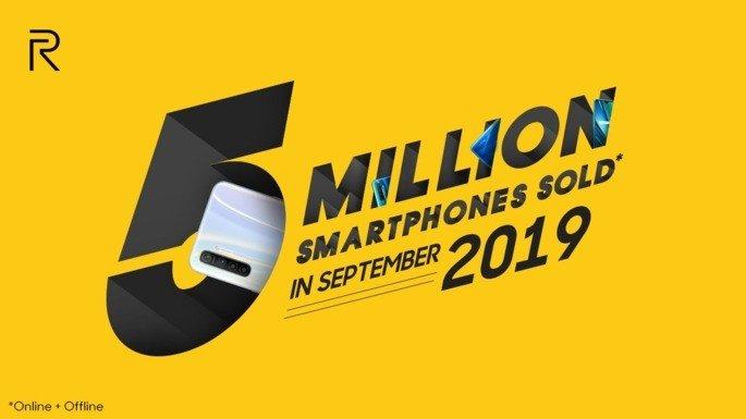 Realme 5 milhões de smartphones índia