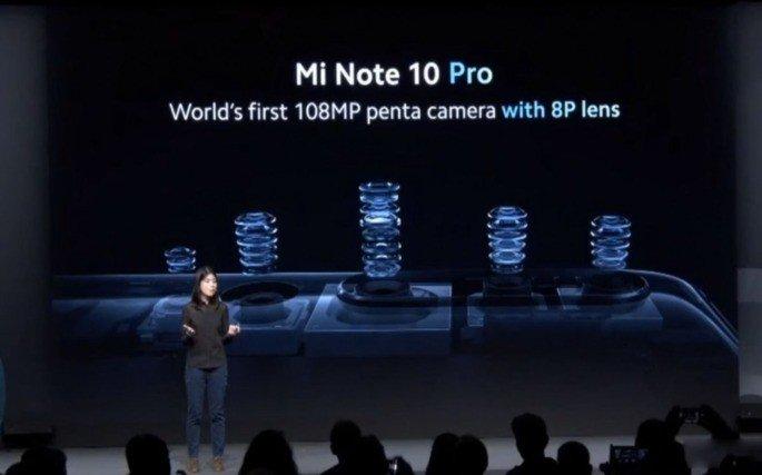 Xiaomi Mi Note 10 câmaras