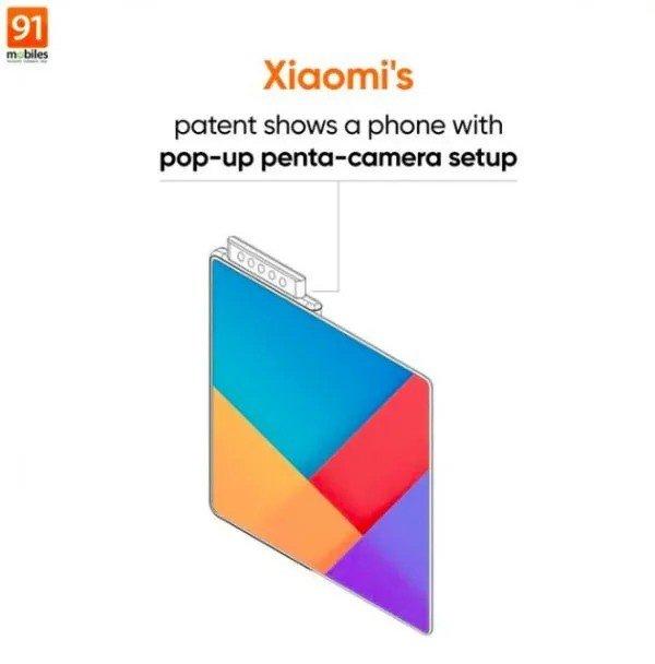 Xiaomi smartphone dobrável penta-câmara pop-up
