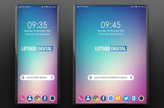 LG smartphone ecrã retrátil