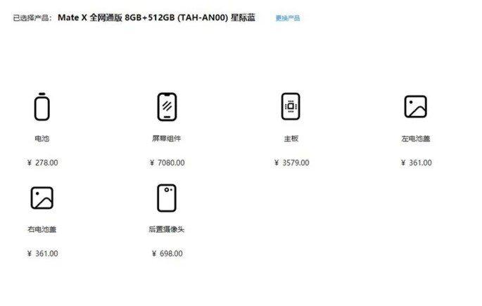 Huawei MAte X arranjo