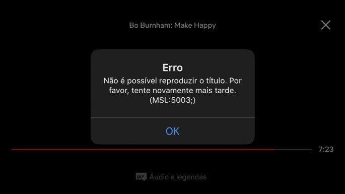 Netflix Erro