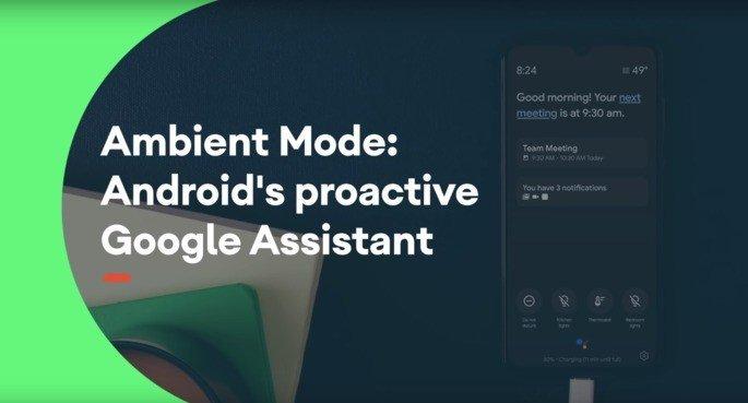 Modo Ambiente Assistente Google