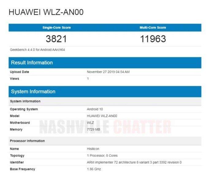Huawei Nova 6 geekbench