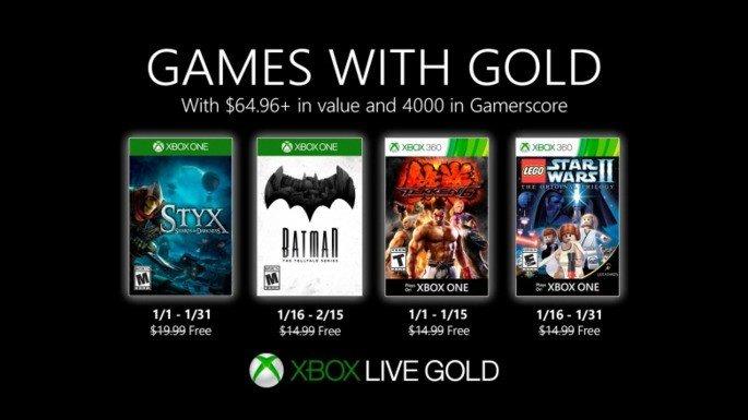 Xbox Live Gold jogos janeiro 2020