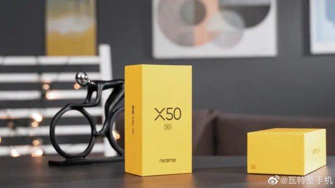 Realme X50 5G caixa de retalho