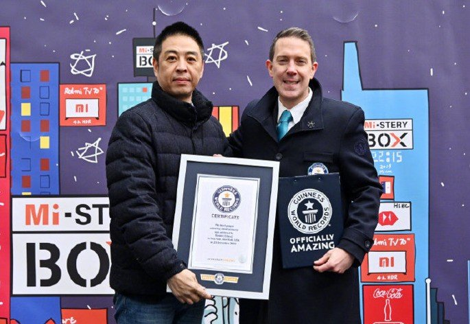 Xiaomi United States Guinness Record