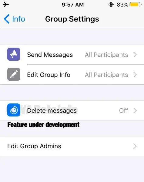 WhatsApp nova funcionalidade