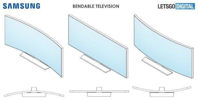 Samsung televisão flexível
