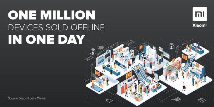 Xiaomi 1 milhão de vendas