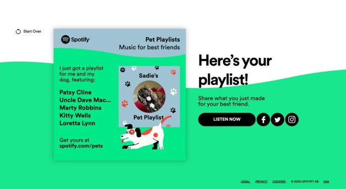 Spotify lista animal