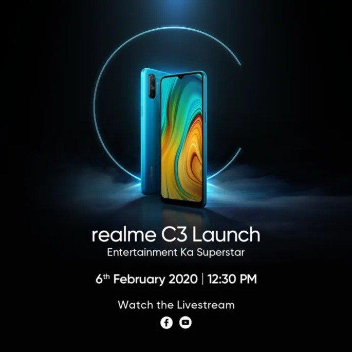 Realme C3 apresentação oficial