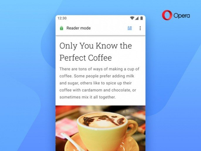 Android Opera Reader Mode