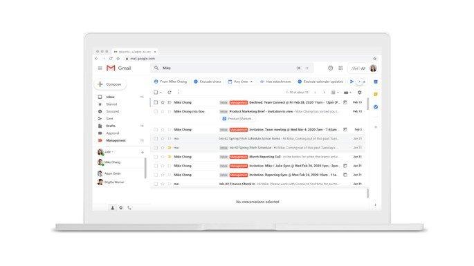 Google Gmail pesquisa