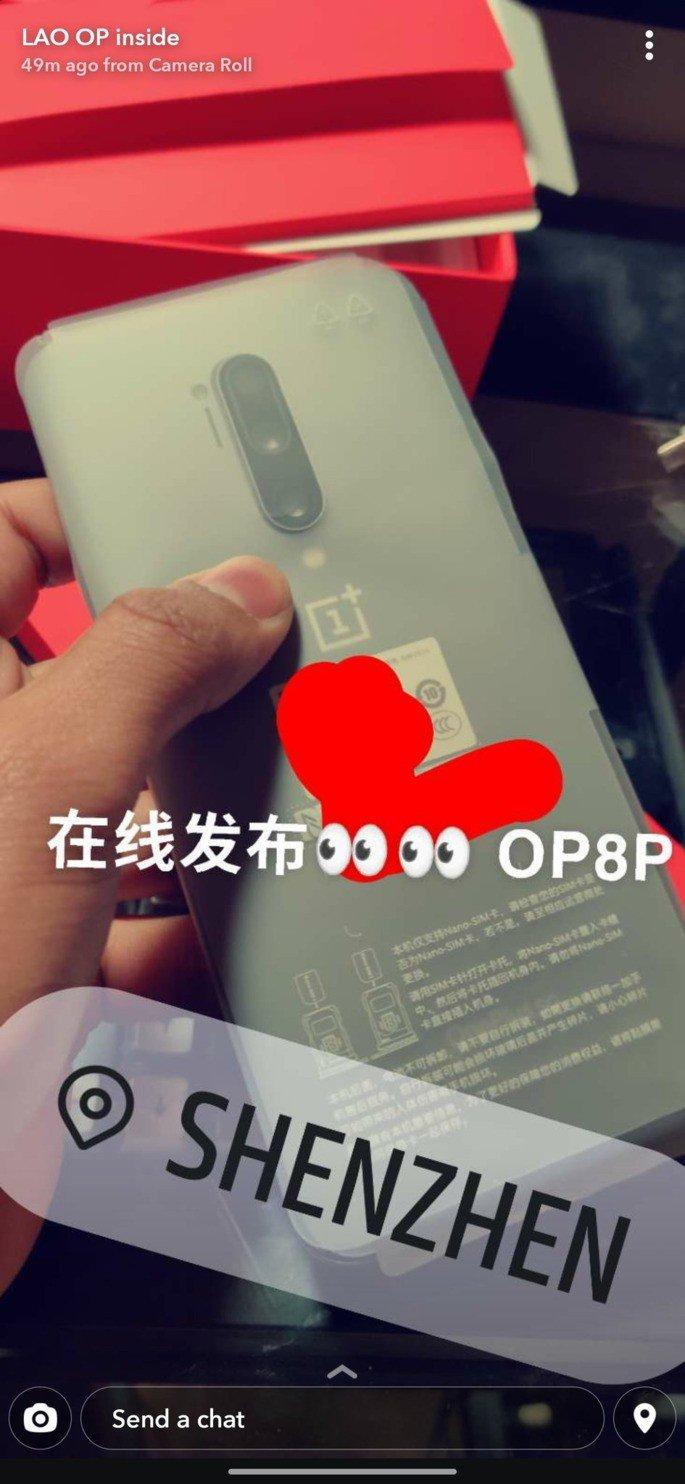 OnePlus 8 Pro imagem leak