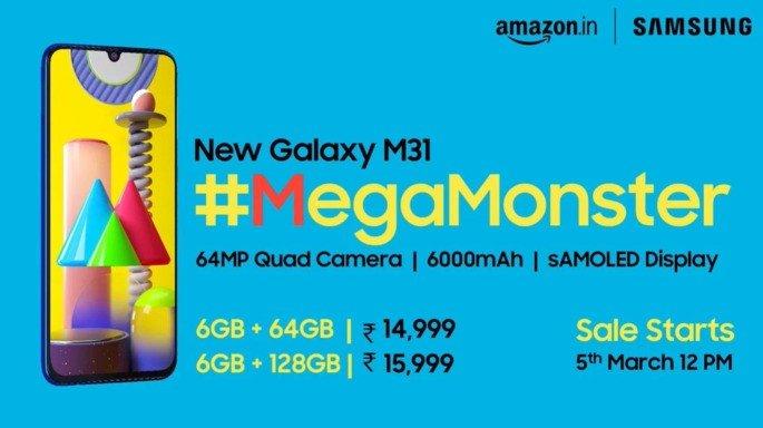 Samsung Galaxy M31 Índia