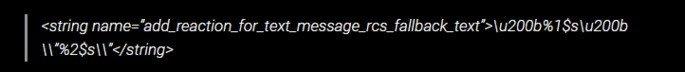 Linha de código mensagens google reações
