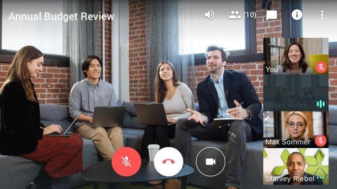 Google Hangouts Meet Coronavirus
