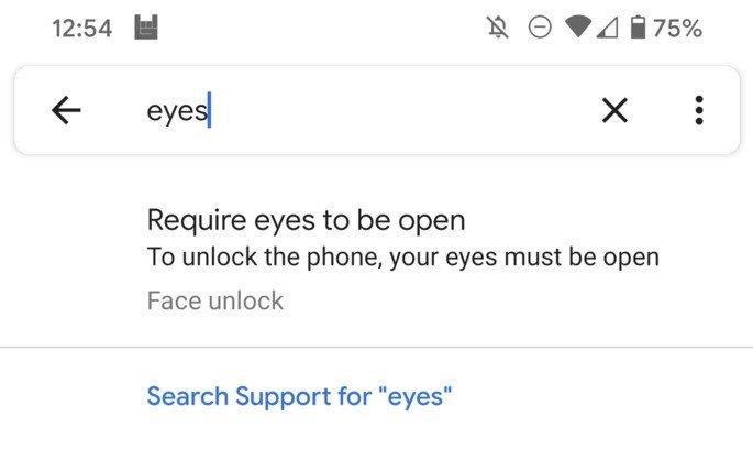 Google Pixel 4 definições